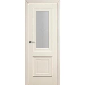 Межкомнатная дверь Profil Doors 28X (стекло узор, эш-вайт)