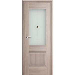 Межкомнатная дверь Profil Doors 2X (стекло узор, орех пекан)