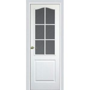 Межкомнатная дверь Ростра Классика ПО (белый, ПВХ)